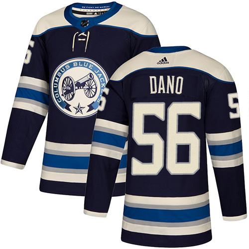 Adidas Blue Jackets #56 Marko Dano Navy Alternate Authentic Stitched NHL Jersey