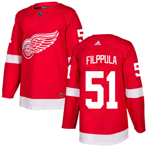 Adidas Red Wings #51 Valtteri Filppula Red Home Authentic Stitched NHL Jersey