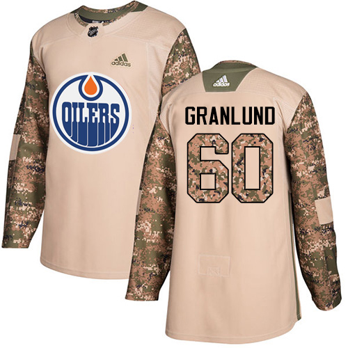 Adidas Oilers #60 Markus Granlund Camo Authentic 2017 Veterans Day Stitched NHL Jersey