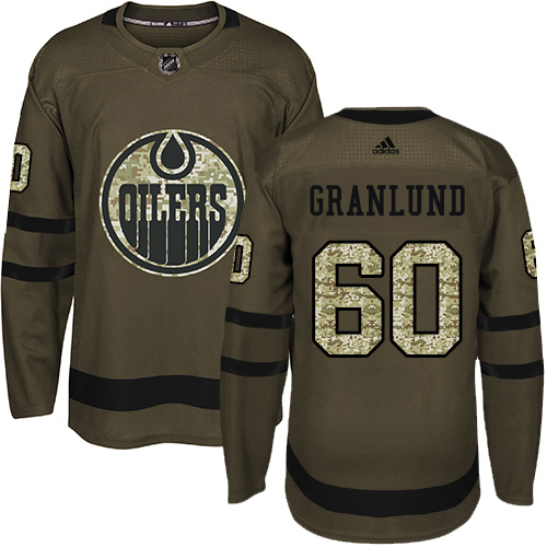 Adidas Oilers #60 Markus Granlund Green Salute to Service Stitched NHL Jersey