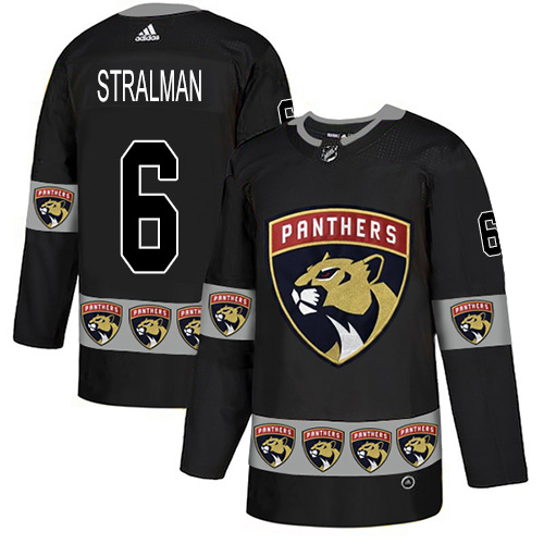 Adidas Panthers #6 Anton Stralman Black Authentic Team Logo Fashion Stitched NHL Jersey