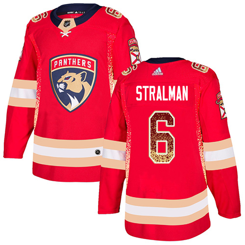 Adidas Panthers #6 Anton Stralman Red Home Authentic Drift Fashion Stitched NHL Jersey