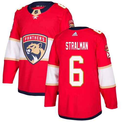 Adidas Panthers #6 Anton Stralman Red Home Authentic Stitched NHL Jersey