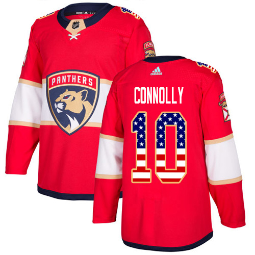 Adidas Panthers #10 Brett Connolly Red Home Authentic USA Flag Stitched NHL Jersey