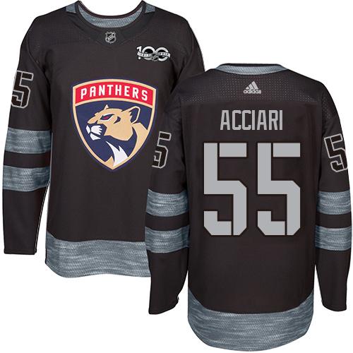 Adidas Panthers #55 Noel Acciari Black 1917-2017 100th Anniversary Stitched NHL Jersey