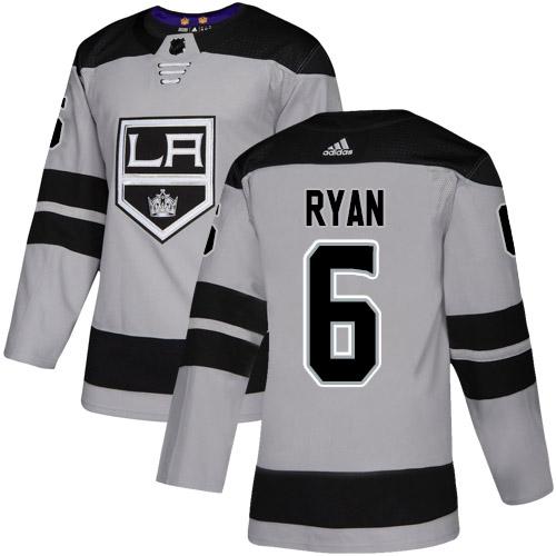 Adidas Kings #6 Joakim Ryan Gray Alternate Authentic Stitched NHL Jersey