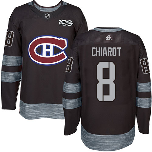 Adidas Canadiens #8 Ben Chiarot Black 1917-2017 100th Anniversary Stitched NHL Jersey