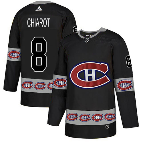 Adidas Canadiens #8 Ben Chiarot Black Authentic Team Logo Fashion Stitched NHL Jersey
