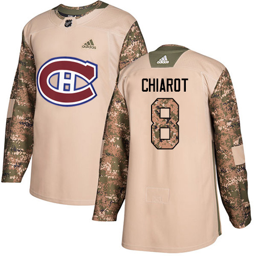 Adidas Canadiens #8 Ben Chiarot Camo Authentic 2017 Veterans Day Stitched NHL Jersey