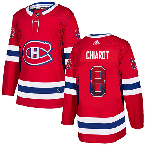 Adidas Canadiens #8 Ben Chiarot Red Home Authentic Drift Fashion Stitched NHL Jersey