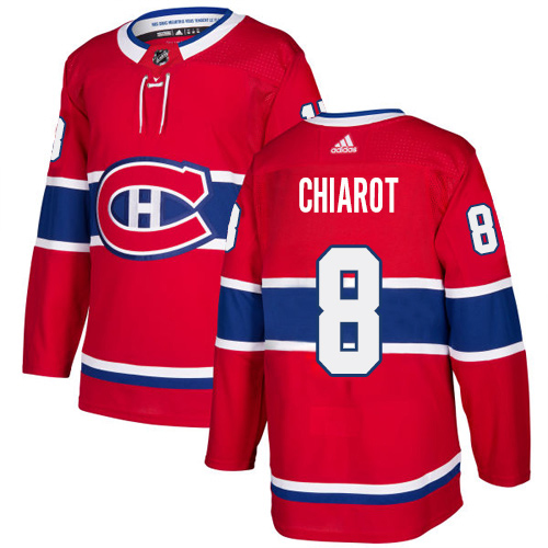Adidas Canadiens #8 Ben Chiarot Red Home Authentic Stitched NHL Jersey