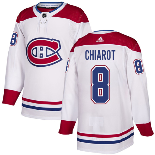 Adidas Canadiens #8 Ben Chiarot White Road Authentic Stitched NHL Jersey