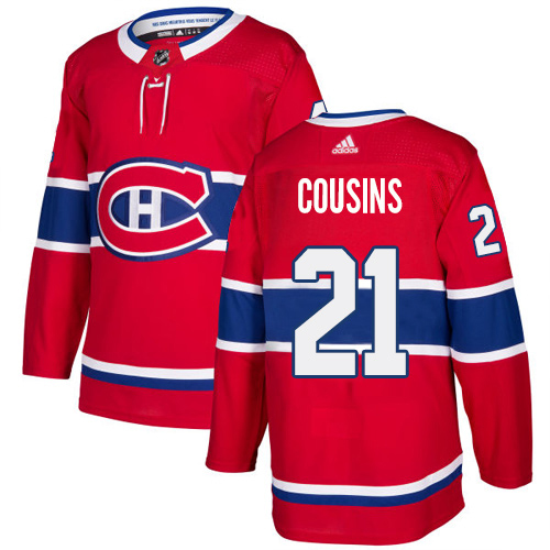 Adidas Canadiens #21 Nick Cousins Red Home Authentic Stitched NHL Jersey