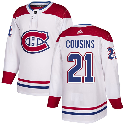 Adidas Canadiens #21 Nick Cousins White Road Authentic Stitched NHL Jersey