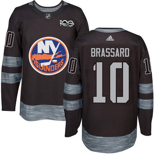 Adidas Islanders #10 Derek Brassard Black 1917-2017 100th Anniversary Stitched NHL Jersey