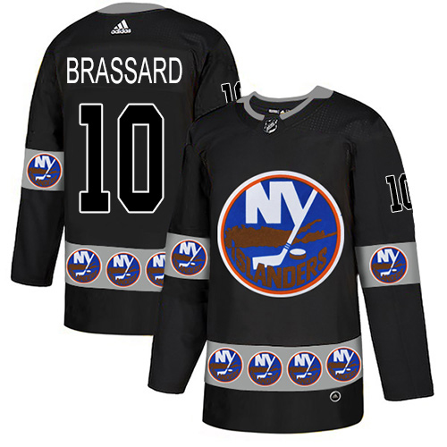 Adidas Islanders #10 Derek Brassard Black Authentic Team Logo Fashion Stitched NHL Jersey