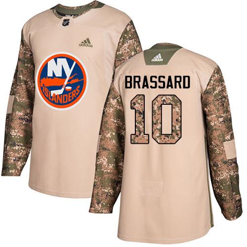 Adidas Islanders #10 Derek Brassard Camo Authentic 2017 Veterans Day Stitched NHL Jersey