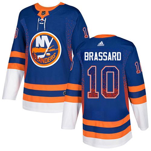 Adidas Islanders #10 Derek Brassard Royal Blue Home Authentic Drift Fashion Stitched NHL Jersey