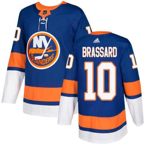 Adidas Islanders #10 Derek Brassard Royal Blue Home Authentic Stitched NHL Jersey