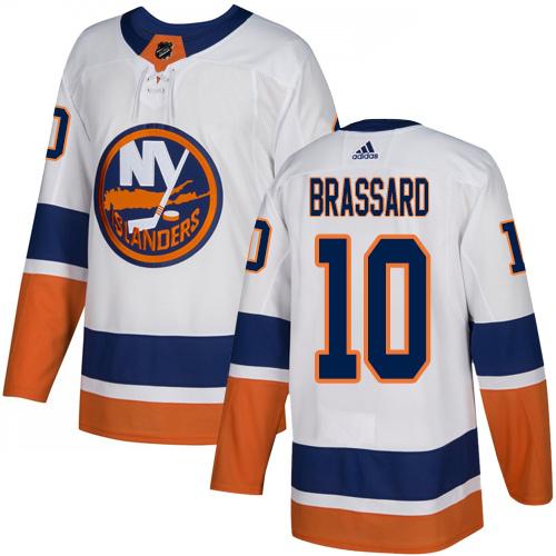 Adidas Islanders #10 Derek Brassard White Road Authentic Stitched NHL Jersey