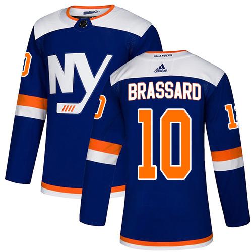 Adidas Islanders #10 Derek Brassard Blue Alternate Authentic Stitched NHL Jersey