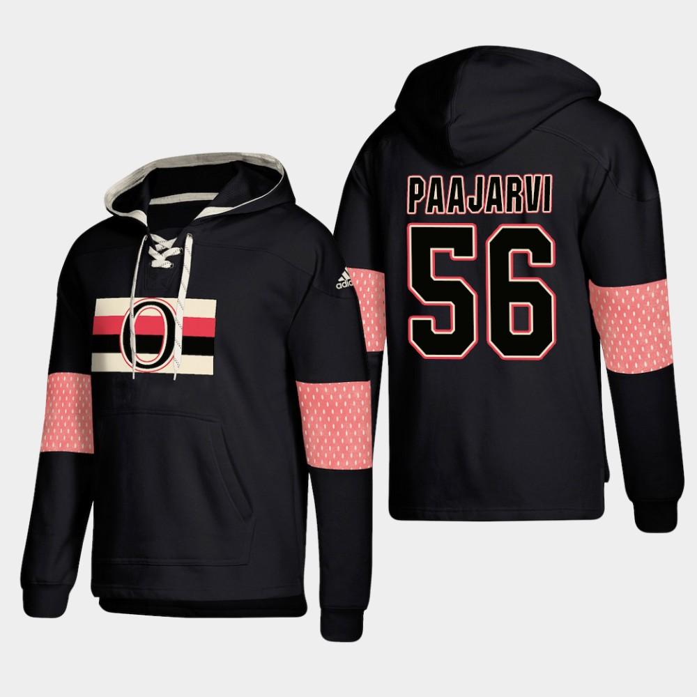 Ottawa Senators #56 Magnus Paajarvi Black adidas Lace-Up Pullover Hoodie