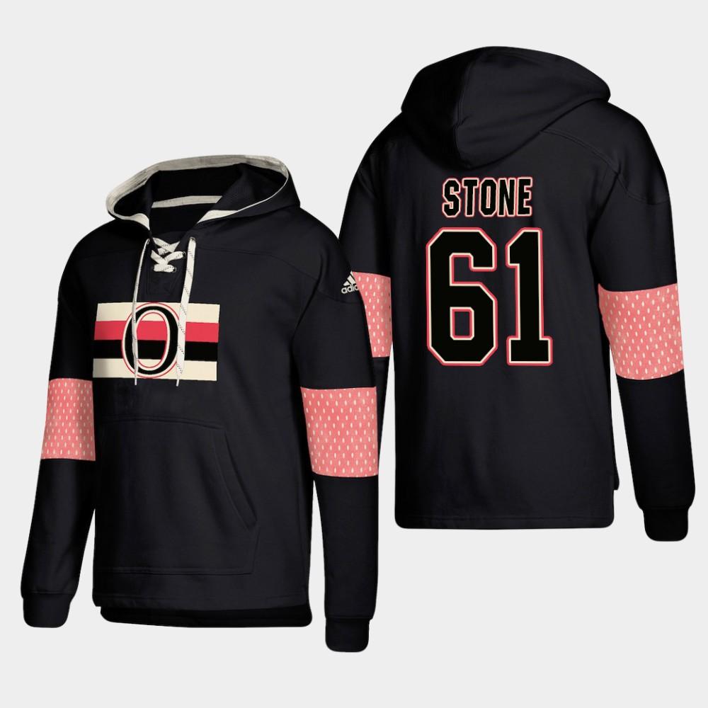Ottawa Senators #61 Mark Stone Black adidas Lace-Up Pullover Hoodie