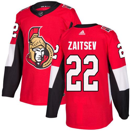Adidas Senators #22 Nikita Zaitsev Red Home Authentic Stitched NHL Jersey