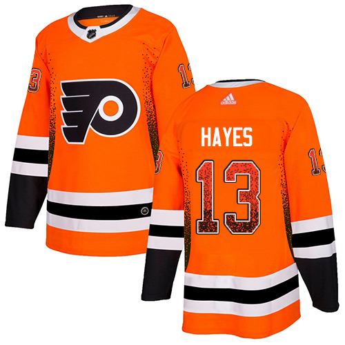 Adidas Flyers #13 Kevin Hayes Orange Home Authentic Drift Fashion Stitched NHL Jersey