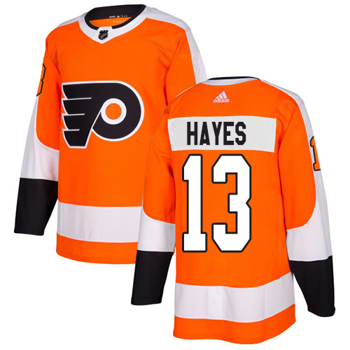 Adidas Flyers #13 Kevin Hayes Orange Home Authentic Stitched NHL Jersey