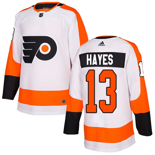 Adidas Flyers #13 Kevin Hayes White Road Authentic Stitched NHL Jersey