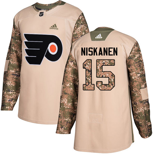 Adidas Flyers #15 Matt Niskanen Camo Authentic 2017 Veterans Day Stitched NHL Jersey