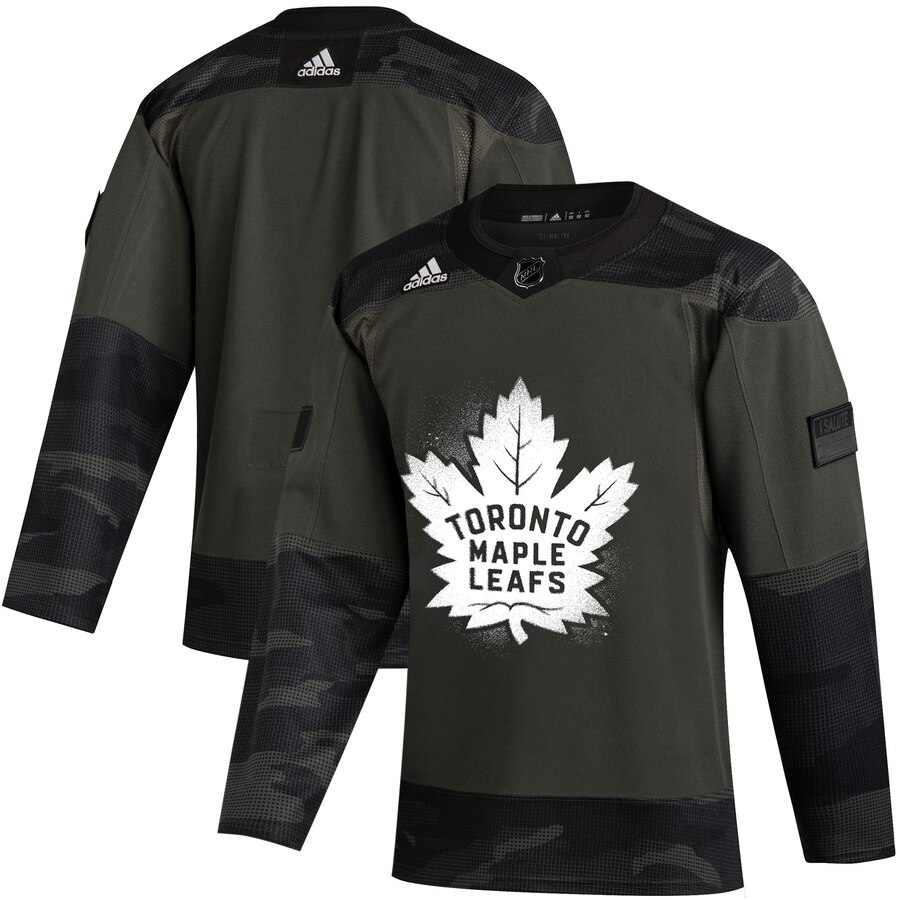 Toronto Maple Leafs Adidas 2019 Veterans Day Authentic Practice NHL Jersey Camo