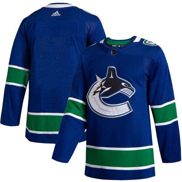 Men's Vancouver Canucks Blank Adidas Blue 2019-20 Home Authentic NHL Jersey