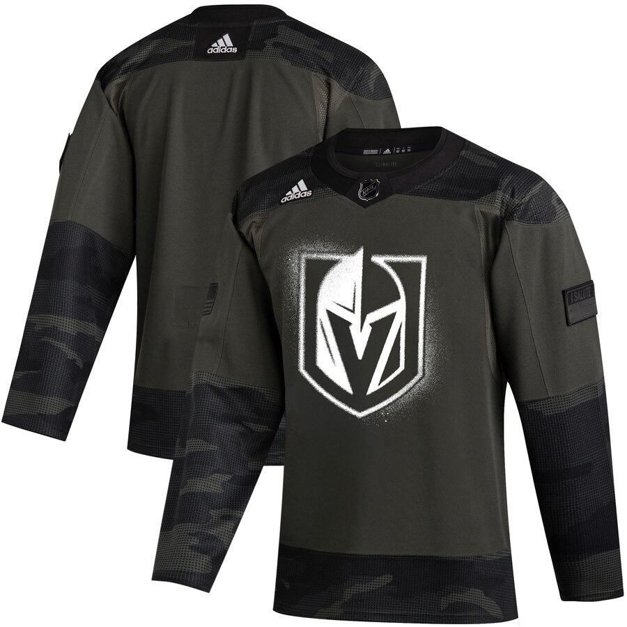 Vegas Golden Knights Adidas 2019 Veterans Day Authentic Practice NHL Jersey Camo