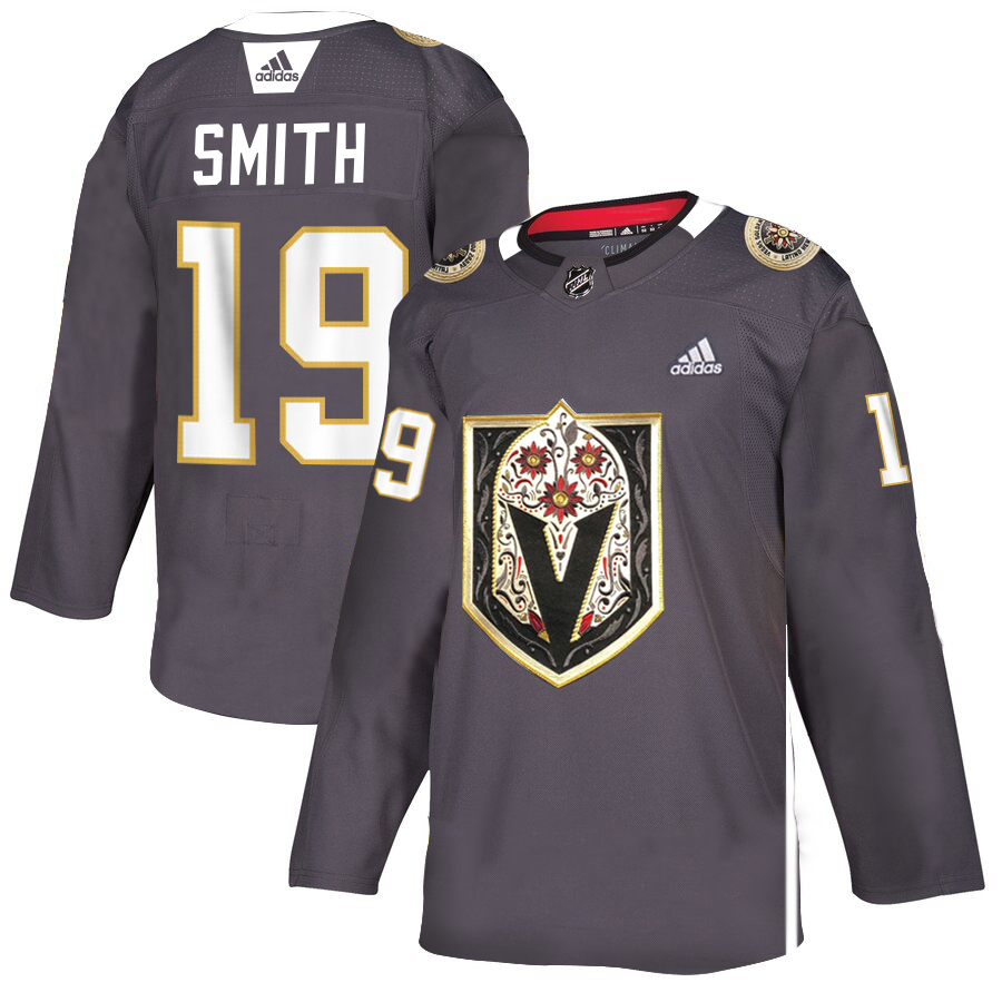 Vegas Golden Knights #19 Reilly Smith Men's Grey Adidas Latino Heritage Night Stitched NHL Jersey