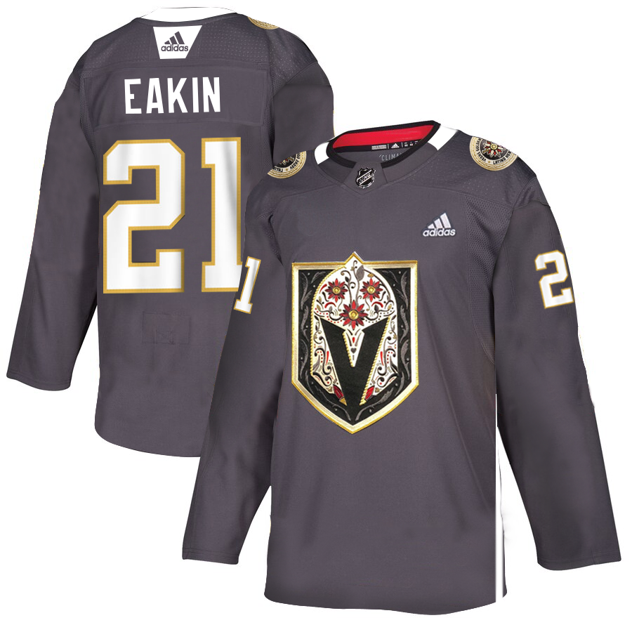 Vegas Golden Knights #21 Cody Eakin Men's Grey Adidas Latino Heritage Night Stitched NHL Jersey