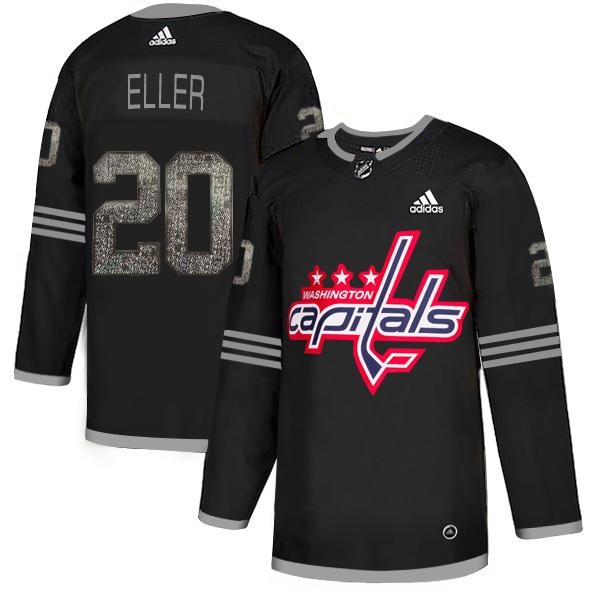Adidas Capitals #20 Lars Eller Black Authentic Classic Stitched NHL Jersey