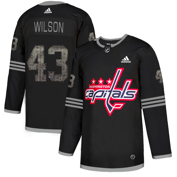Adidas Capitals #43 Tom Wilson Black Authentic Classic Stitched NHL Jersey