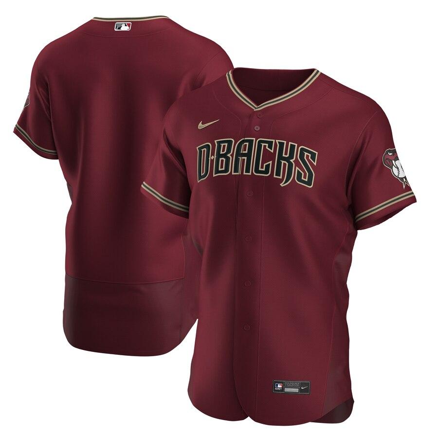 Arizona Diamondbacks Men's Nike Crimson Authentic Alternate Team MLB Jersey