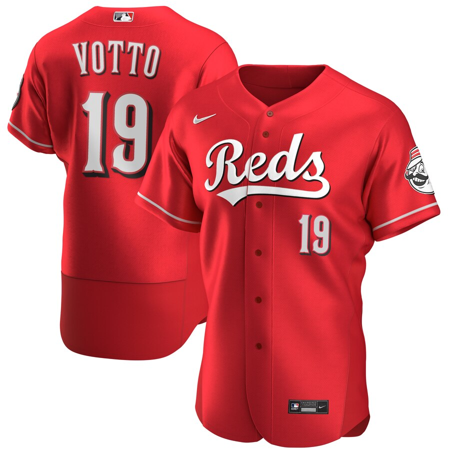 Cincinnati Reds #19 Joey Votto Men's Nike Scarlet Authentic Alternate Player MLB Jersey