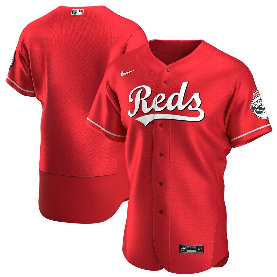 Cincinnati Reds Men's Nike Scarlet Authentic Alternate Team MLB Jersey