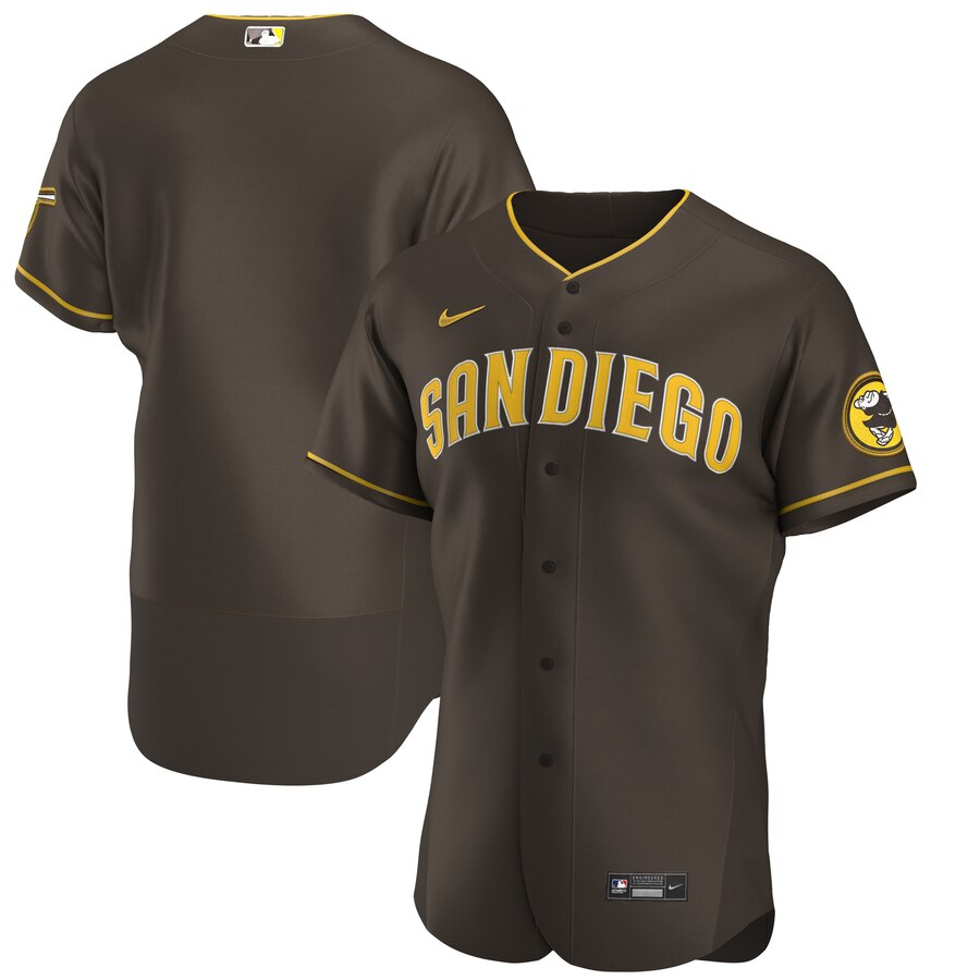 San Diego Padres Men's Nike Brown Authentic Alternate Team MLB Jersey