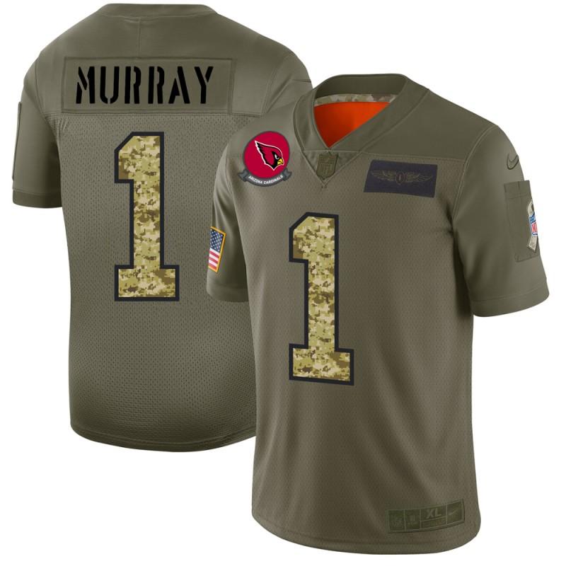 Arizona Cardinals #1 Kyler Murray Men's Nike 2019 Olive Camo Salute To Service Limited NFL Jersey