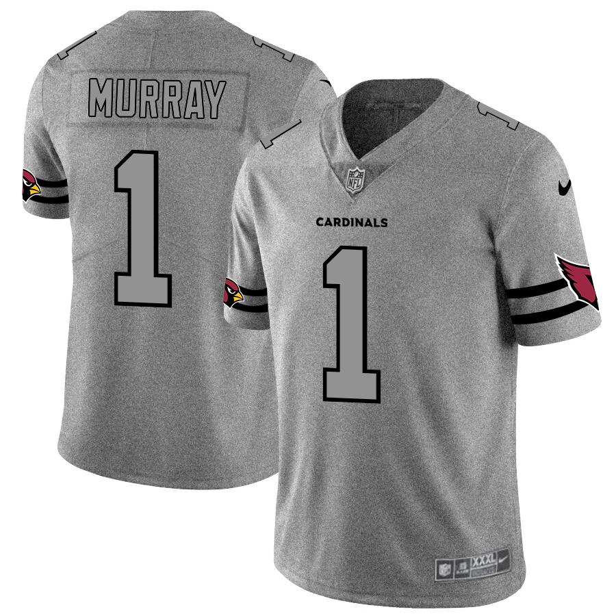Arizona Cardinals #1 Kyler Murray Men's Nike Gray Gridiron II Vapor Untouchable Limited NFL Jersey