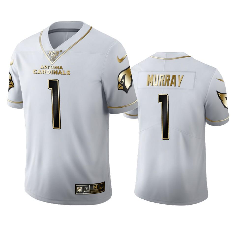 Arizona Cardinals #1 Kyler Murray Men's Nike White Golden Edition Vapor Limited NFL 100 Jersey