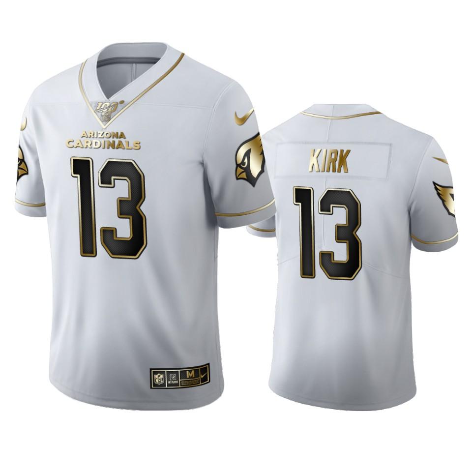 Arizona Cardinals #13 Christian Kirk Men's Nike White Golden Edition Vapor Limited NFL 100 Jersey