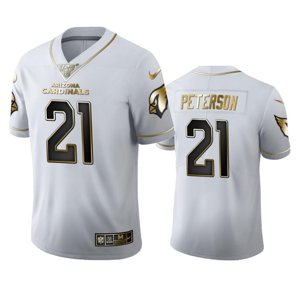 Arizona Cardinals #21 Patrick Peterson Men's Nike White Golden Edition Vapor Limited NFL 100 Jersey