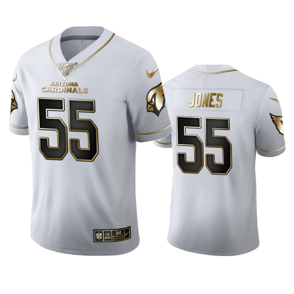 Arizona Cardinals #55 Chandler Jones Men's Nike White Golden Edition Vapor Limited NFL 100 Jersey