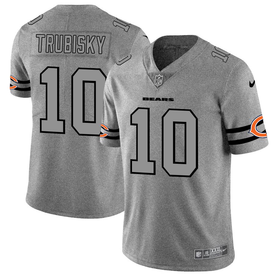 Chicago Bears #10 Mitchell Trubisky Men's Nike Gray Gridiron II Vapor Untouchable Limited NFL Jersey